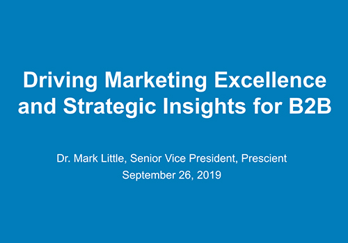 From Intelligence to Insights in a Competitive B2B Market, Mark Little