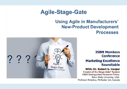 Agile-Stage Gate, Robert Cooper,  RG Cooper & Associates Consultants Inc.